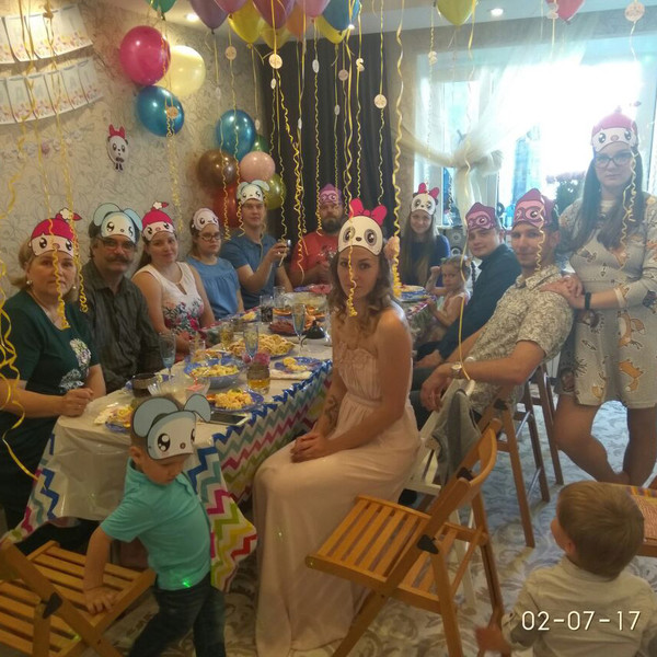 Совместный день рождения мамы и сына в стиле Малышарики