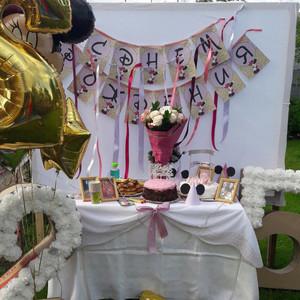 Фотоотчет со дня рождения в стиле Минни Маус «Розовый и Глиттер»