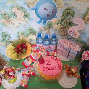 Александре 2 годика в стиле «Малышарики» домашнее празднование, в детском саду и развлекательном центре