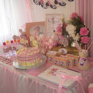 Ульяночке 1 годик в стиле «Минни Маус. Розовый и Глиттер»
